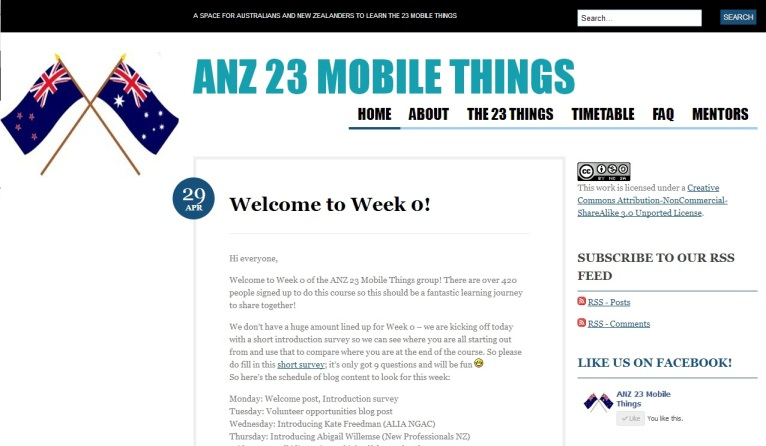 Anz 23 Mobile Things Homepage